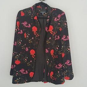 Cynthia rowley floral blazer